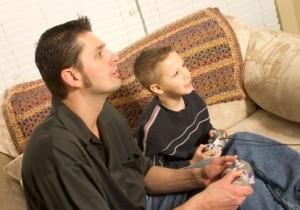 père et fils jeux vidéos